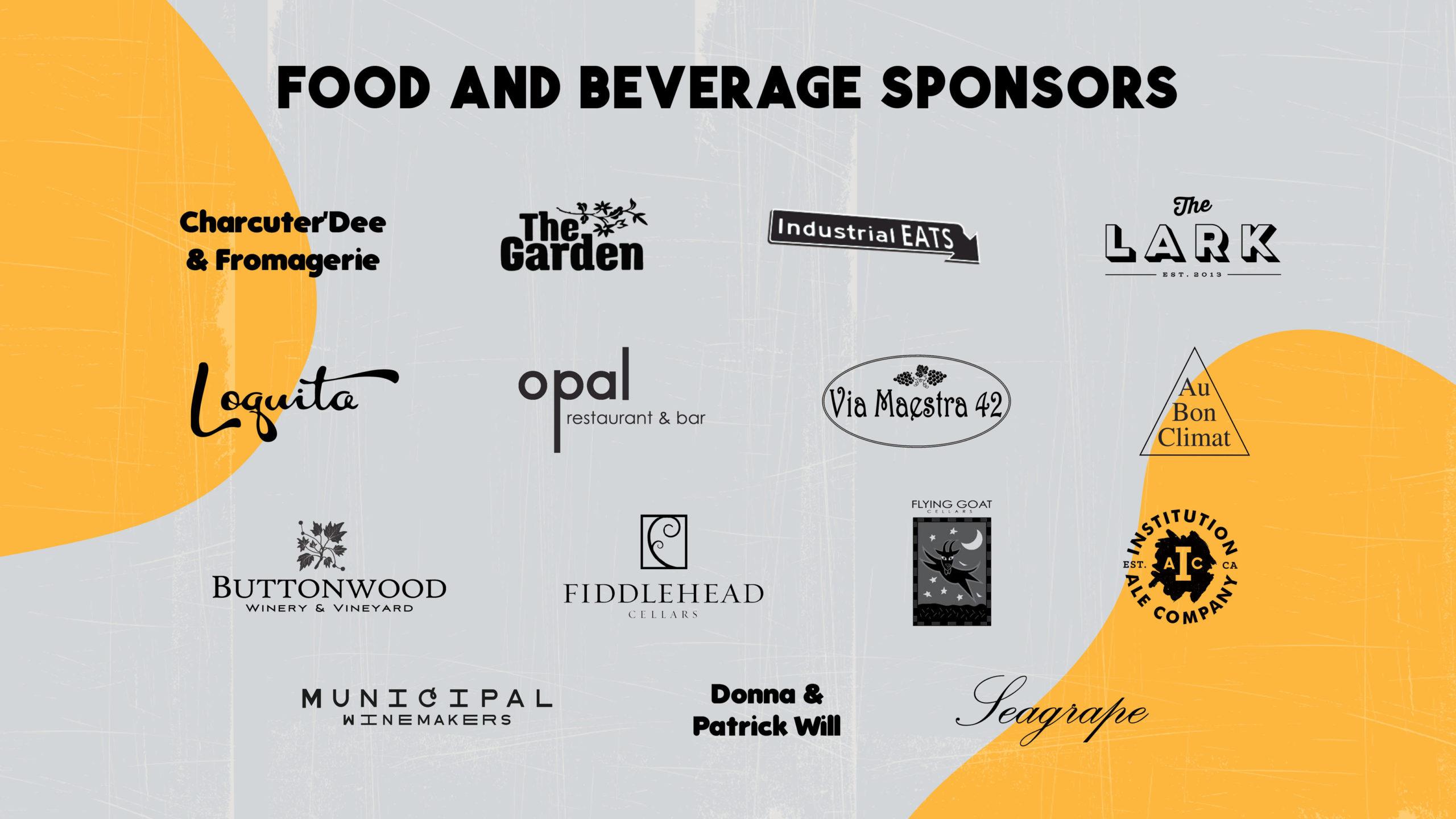 Food + Bev Sponsors 2020