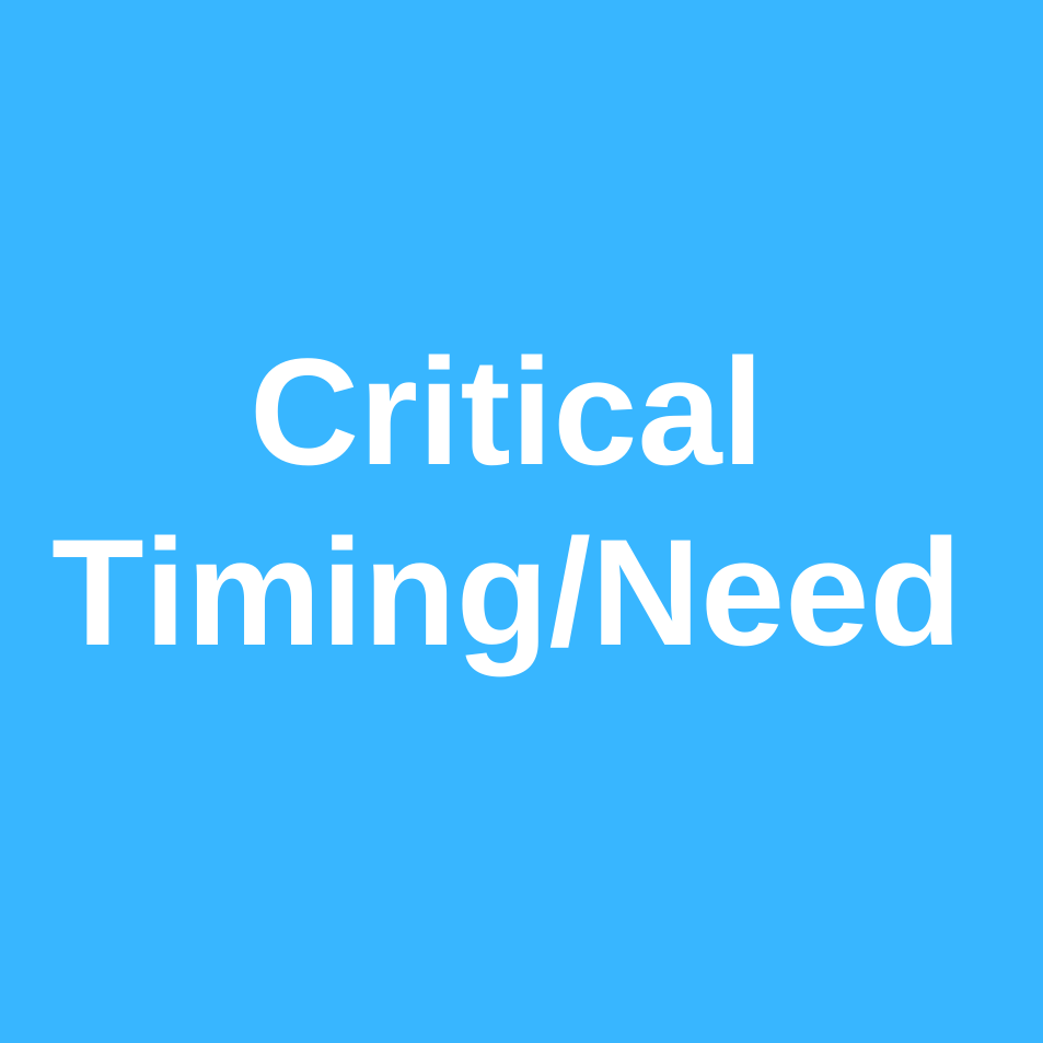 Critical Timing_Need